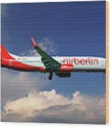 Air Berlin Boeing 737-800 Wood Print