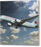 Air Canada 787 Dreamliner Wood Print