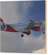 Air Canada Rouge Airbus A319-114 Wood Print