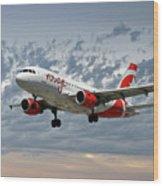 Air Canada Rouge Airbus A319 Wood Print