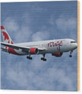 Air Canada Rouge Boeing 767-333 1 Wood Print