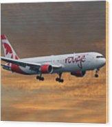 Air Canada Rouge Boeing 767-333 3 Wood Print