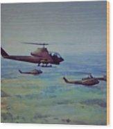 Air Cav Wood Print