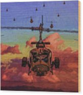 Air Cavalry Bell Uh-1 Huey  Wood Print