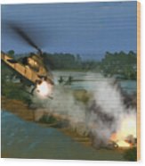 Air Conflicts Vietnam Front Wood Print