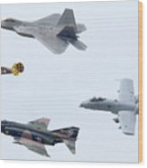Air Force Heritage Flight Luke Afb Arizona March 19 2011 Wood Print