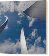 Air Force Memorial Wood Print by Louise Heusinkveld
