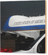 Air Force One Wood Print
