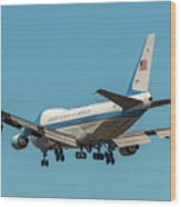 Air Force One On Final Approach Into Charleston South Carolina Wood Print