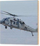 Air Force Sikorsky Hh-60g Blackhawk 90-26228 Mesa Gateway Airport March 11 2011 Wood Print