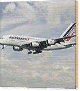 Air France A380-800 F-hpjb Wood Print