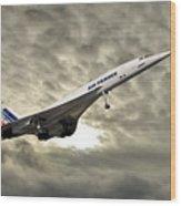 Air France Concorde 115 Wood Print