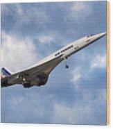 Air France Concorde 118 Wood Print