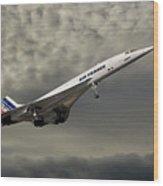 Air France Concorde 116 Wood Print