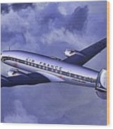 Air France Connie Wood Print