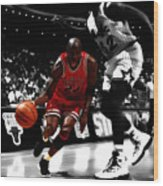 Air Jordan On Shaq Wood Print