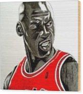 Air Jordan Raging Bull Drawing Wood Print
