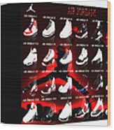Air Jordan Shoe Gallery II Wood Print