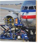 Air Transportation. Wood Print by Fernando Barozza