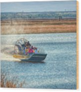Airboat Rides Wood Print