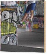 Airborne At Southbank Wood Print