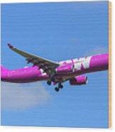 Airbus A330-343e Wow Air Wood Print