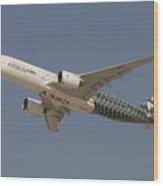 Airbus A350 At Dubai Air Show, Uae Wood Print