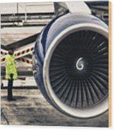 Airbus Engine Wood Print by Stelios Kleanthous