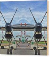 Aircraft Abstract Wood Print