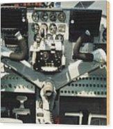 Aircraft Airplane Control Panel Wood Print