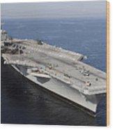 Aircraft Carrier Uss Carl Vinson Wood Print