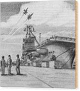 Aircraft Carrier Wood Print