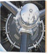 Aircraft Engine Wood Print