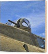 Aircraft Top Machine Gun Wood Print