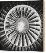 Aircraft Turbofan Engine Wood Print
