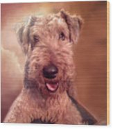 Airedale Wood Print
