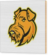 Airedale Terrier Dog Mascot Wood Print