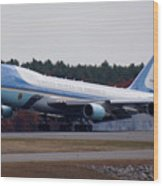 Airforce One Wood Print