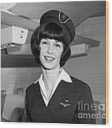 Airline Stewardess Wood Print