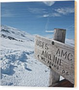 Airline Trail - White Mountains New Hampshire Wood Print