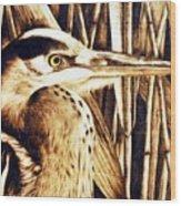 Airone Wood Print