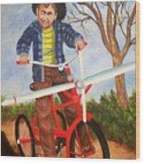 Airplane Bike Wood Print