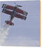 Airplane Performing Stunts At Airshow Photo Poster Print Wood Print