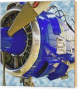 Airplane Propeller And Engine T28 Trojan 02 Wood Print