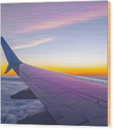 Airplane Window Wood Print