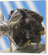 Airplanes Prop And Engine Wood Print