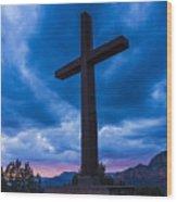 Airport Cross Wood Print