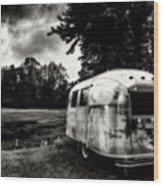 Airstream Reflection Wood Print