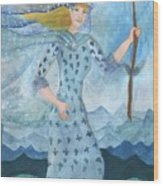 Airy Queen Of Wands Wood Print