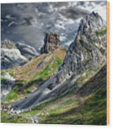 Aisa Valley Scenic Wood Print
